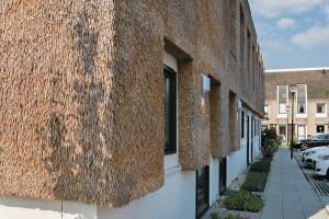 Stråtaget er klimavenligt og spiller fint sammen med glas og beton på moderne nybyggeri